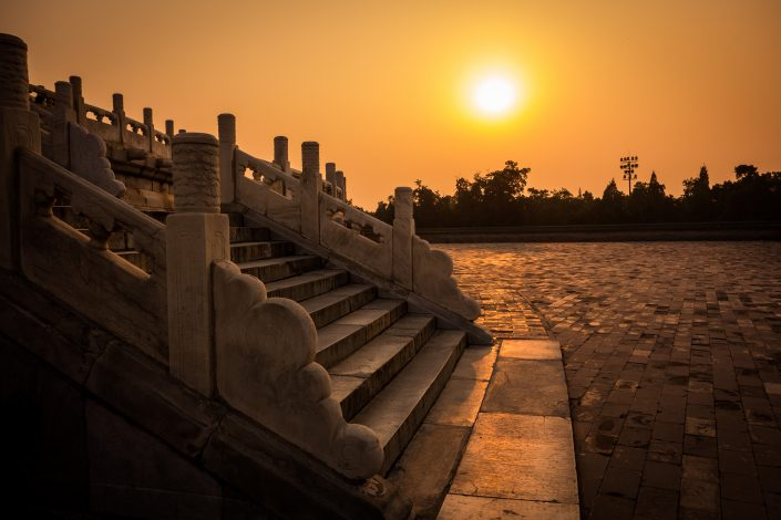 Temple of Heaven, au coucher du soleil