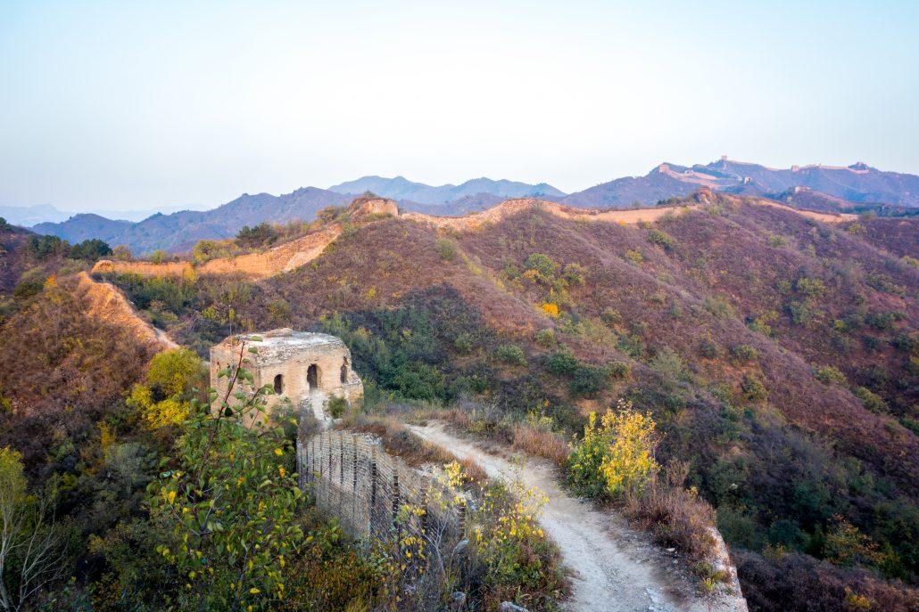 La grande muraille de Chine à Gubeikou (partie non restaurée)