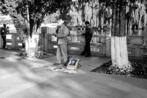Parc du lac vert, Kunming (avec Ben Laden...)