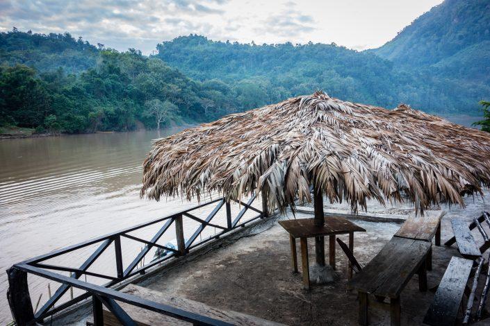 Vue de notre balcon, Nong Khiaw