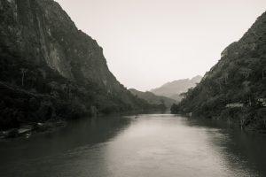 Vue du pont de béton, Nong Khiaw