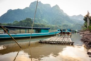 Radeau sur la Nam Ou River
