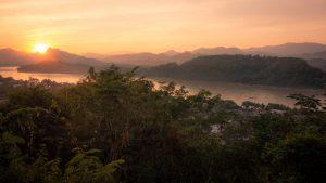Coucher de soleil sur Phou Si Hill