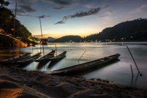 Coucher de soleil sur les banana boats