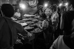 Buffet végétarien du Night Food Market