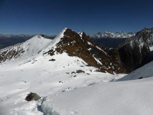 Chemin jusqu'au Holy Lake (il y a un peu de neige à plus de 4000m...)