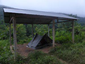 Notre campement du jour, proche de Luang Namtha