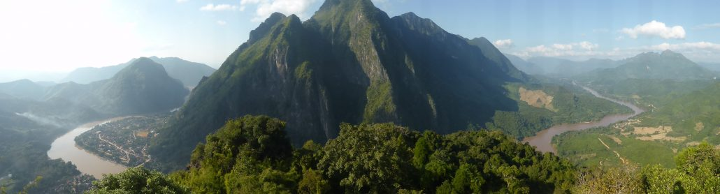 Panorama dans les hauteurs de Nong Khiaw