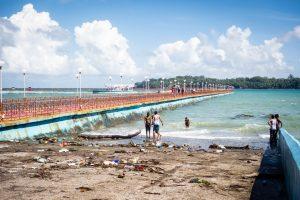 Plage de Port Blair (et ses déchets...)