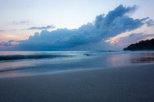 Coucher de soleil sur Beach #7