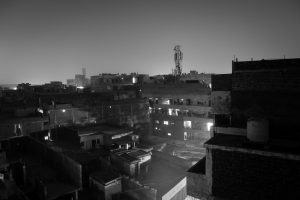 Toits de Delhi by night