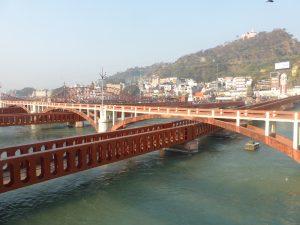 Passerelles sur le Gange à Haridwar