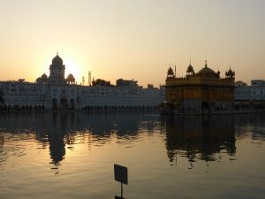 Golden Temple au coucher du soleil
