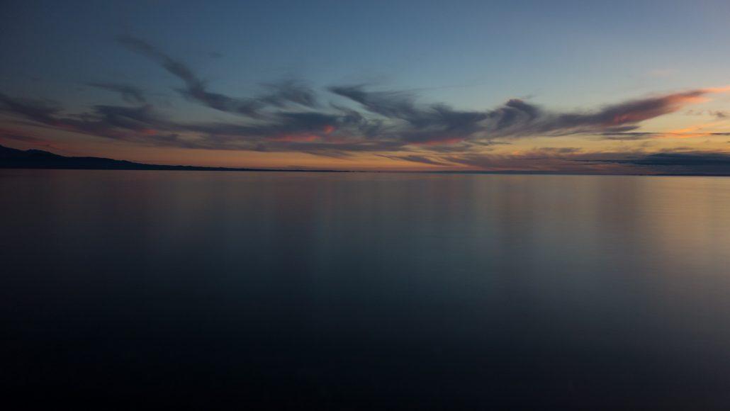 Coucher de soleil sur le lac Llanquihue