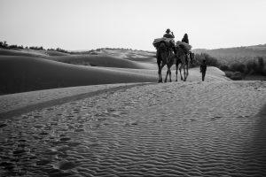Départ vers le désert