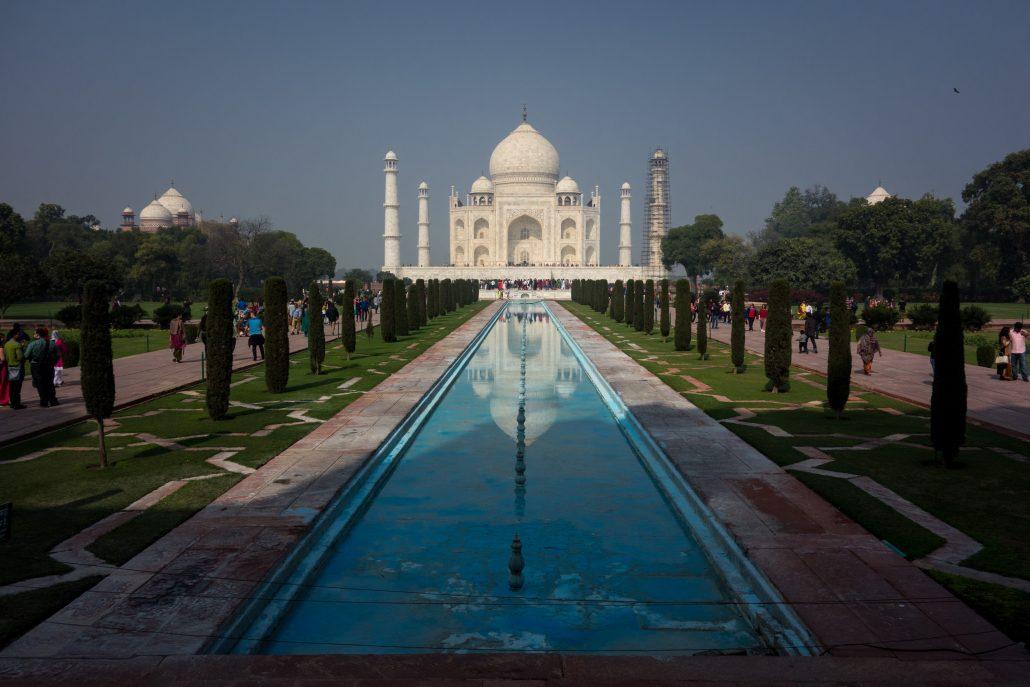Le Taj Mahal (après avoir bien voulu sortir du brouillard)