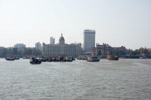 Hôtel Taj et India Gate depuis la baie