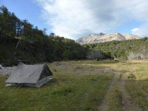 Premier campement dans le Parc National Villa Cerro Castillo