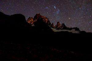 Vue depuis le campinp Tetera by night