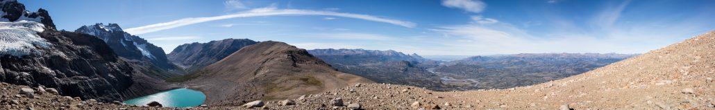 Panorama du deuxième col du trek
