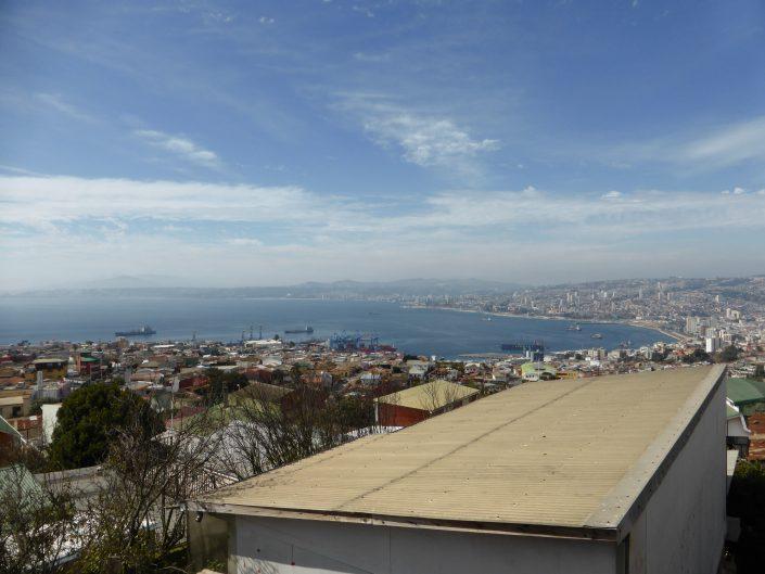 Valparaiso depuis notre auberge, de jour