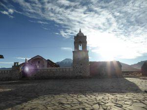 Place de l'église, Sajama