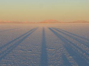 Lever de soleil sur Uyuni