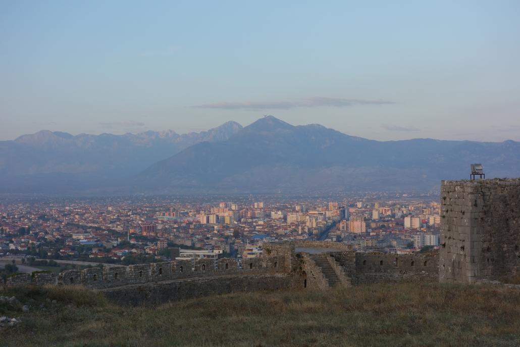 Vue sur Skhodër depuis la Citadelle de Rosafa