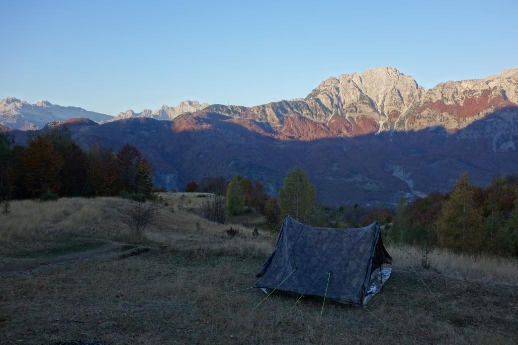 Superbe spot de camping improvisé