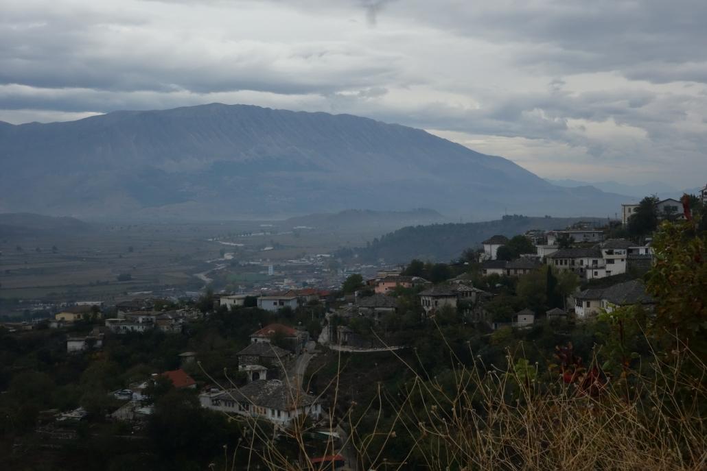 Vue depuis le chateau de Gjirokastër