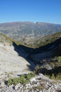 Vue depuis le haut de la Cascade de Sopotit