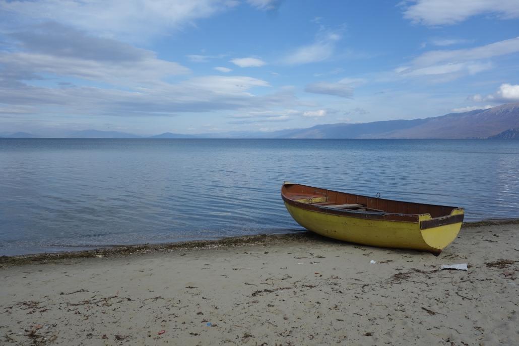 Lac d'Ohrid à Pogradec