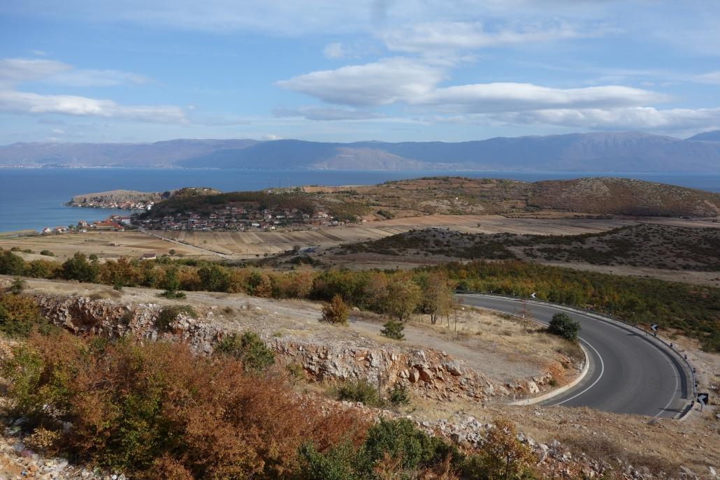 Remontée vers Berat de Pogradec